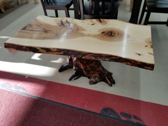 Hickory Slab Coffee Table